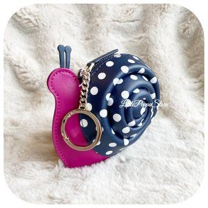 KATE SPADE SCARLETT SNAIL COIN PURSE CHARM KEY FOB